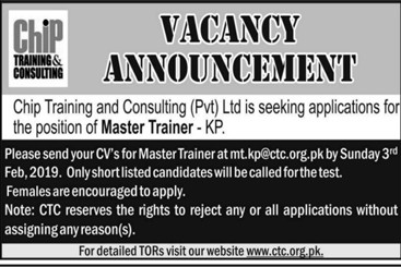 Chip Training and Consulting Private Limited Jobs