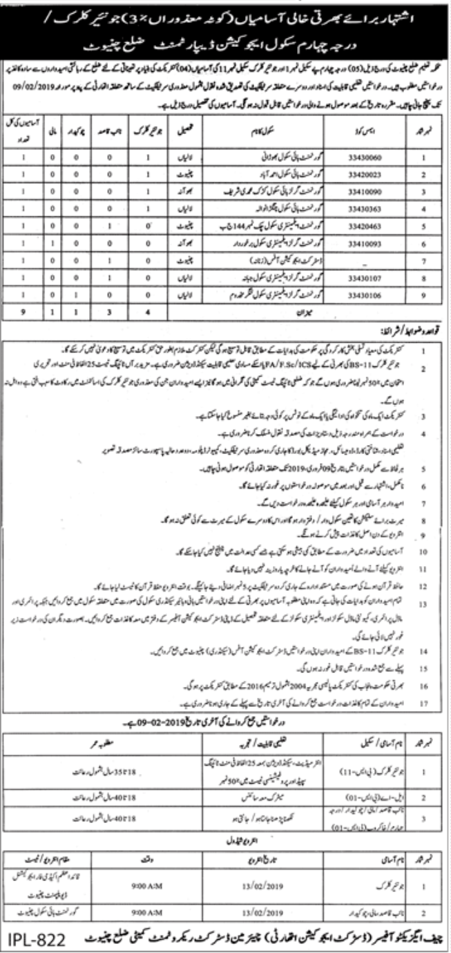School and Education Department Jobs