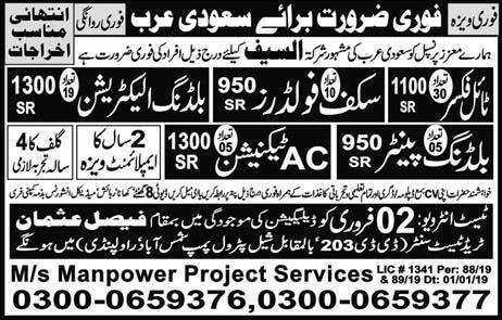 Ms Manpower Project Services Jobs