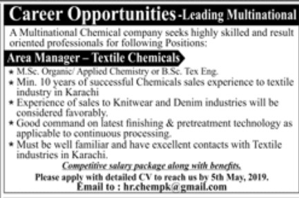 Multinational Chemical Company Jobs - vulearning jobs