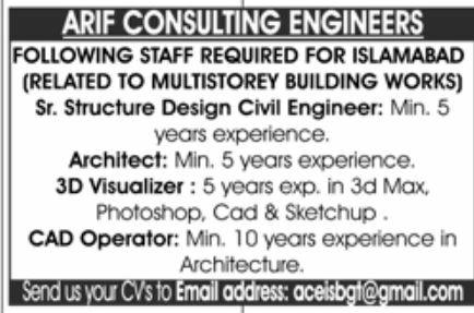 ARIF Consulting Engineers Jobs